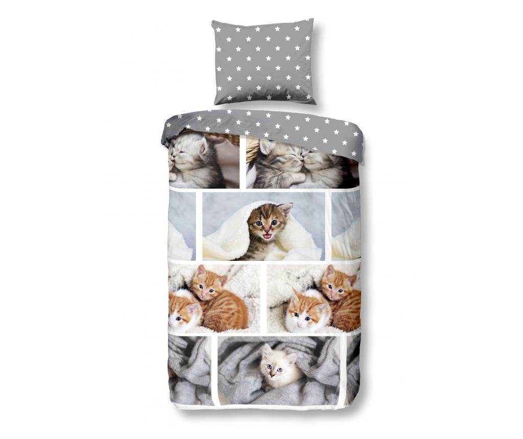 Set za dječji krevet Single Flannel Kitty