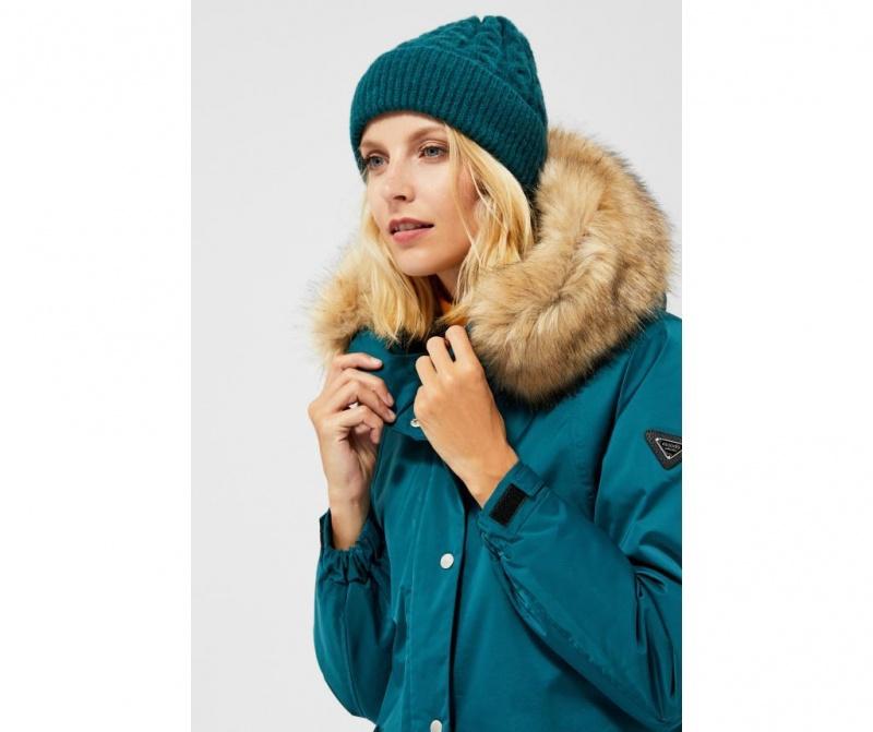 Ženska zimska kapa Ivone Dark Green