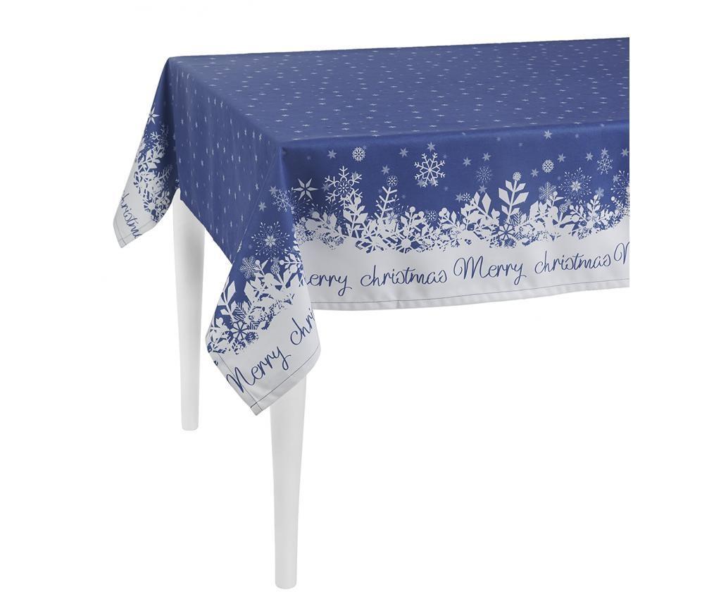 Merry Christmas Blue Asztalterítő 140x300 cm