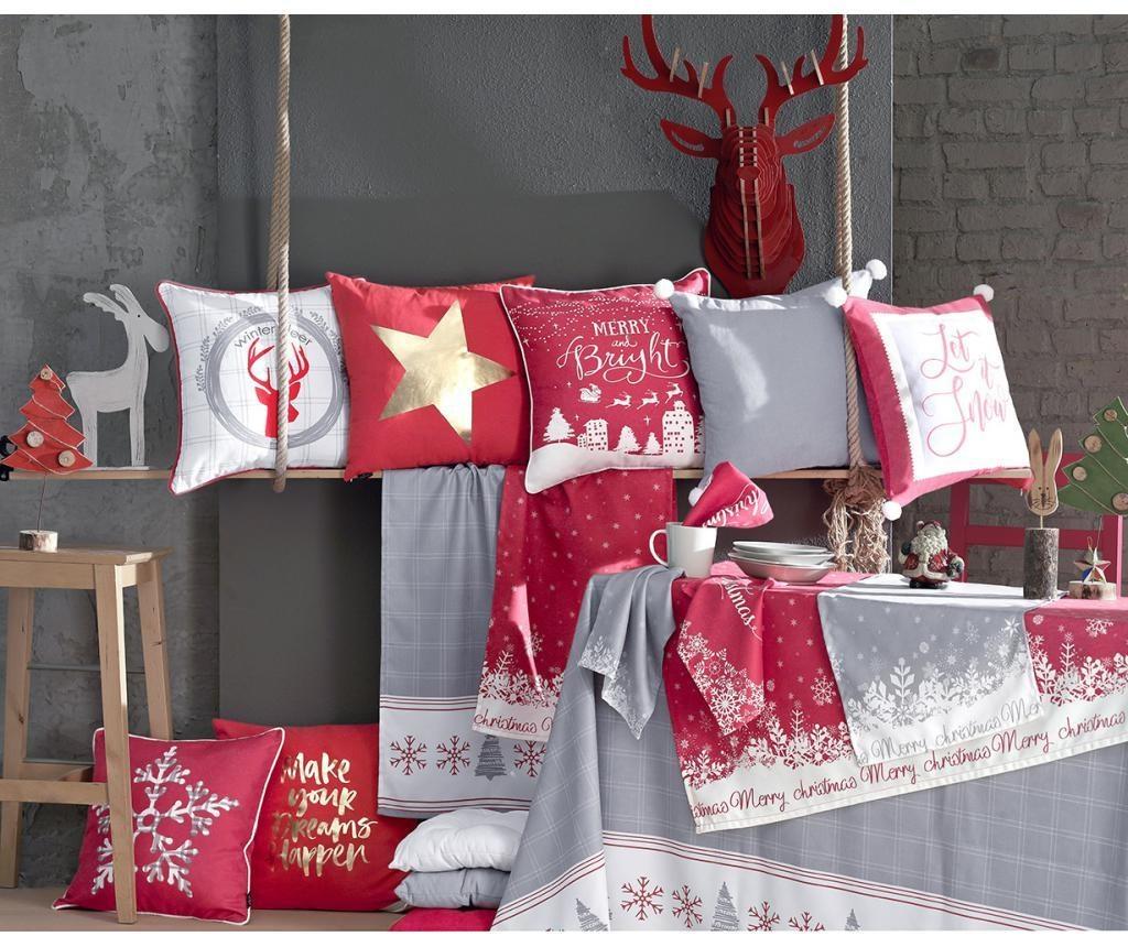 Τραπεζομάντηλο Merry Christmas Grey 140x140 cm