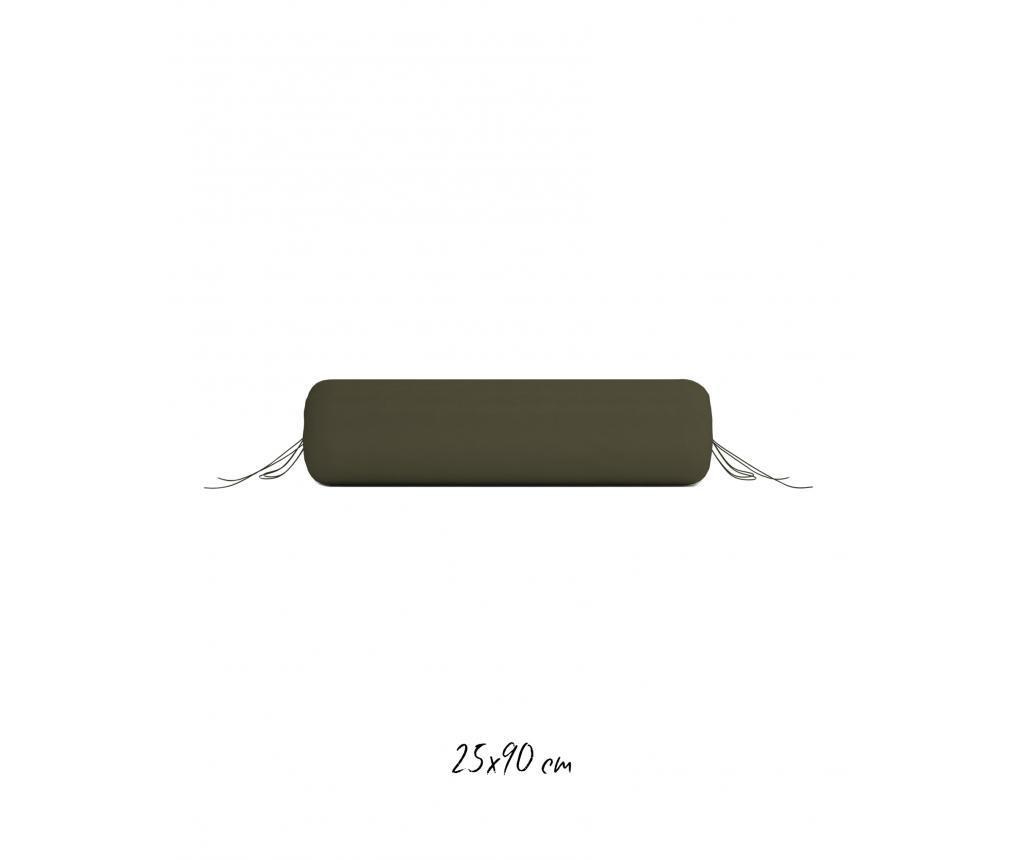 Navlaka za jastuk Bolster Burnt Olive 25x90 cm