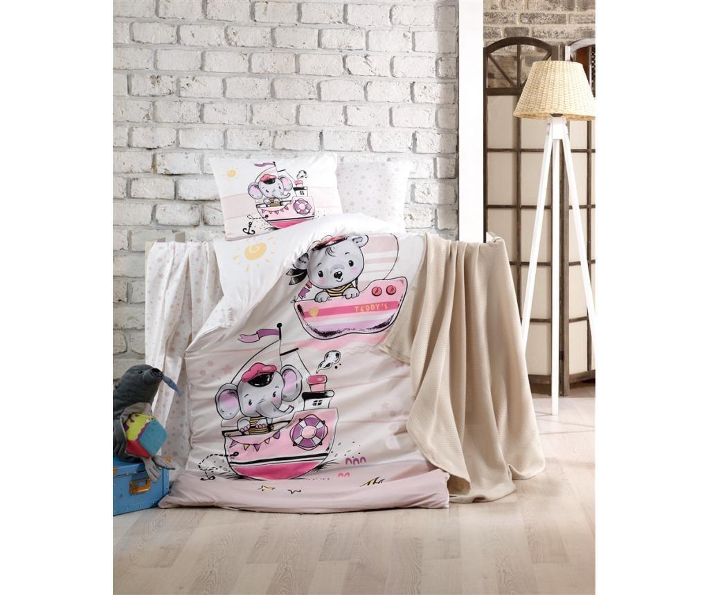 Posteljnina za otroško posteljico Sailing Pink