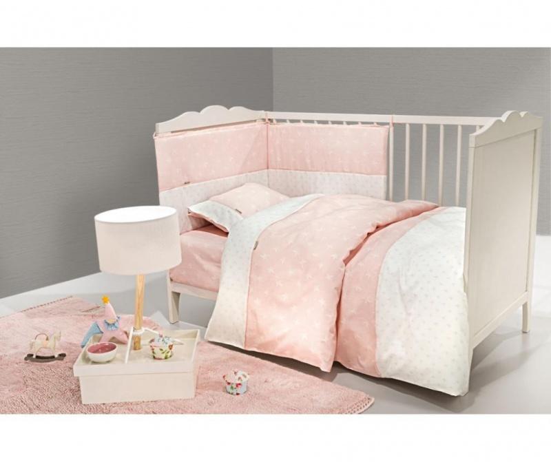 Set posteljina za krevetić Heaven Pink