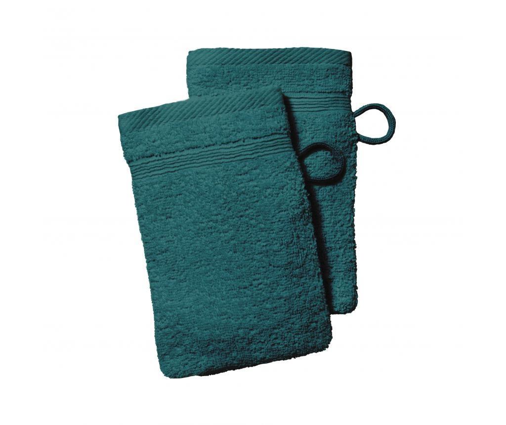 Set 2 kupaonskih rukavica Plain Emeraude