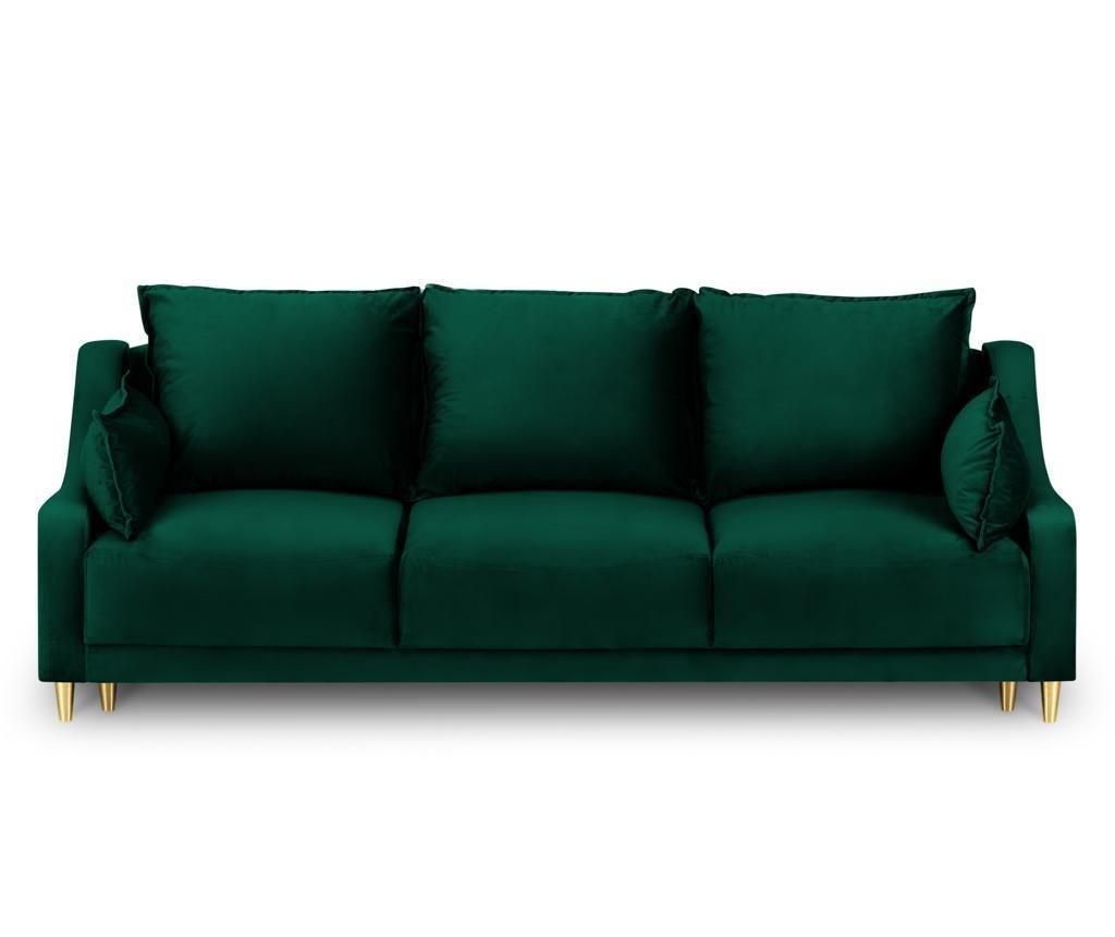 Canapea extensibila 3 locuri Pansy Bottle Green