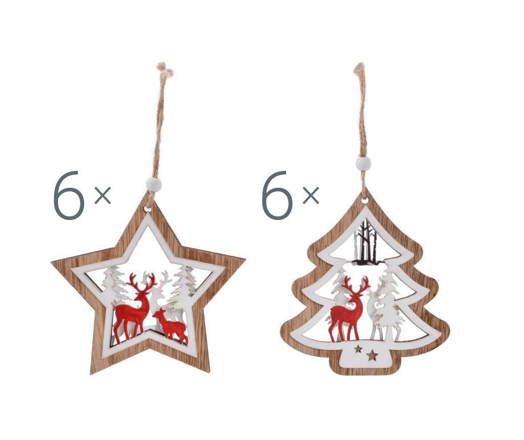 Set 12 visečih dekoracij Christmas