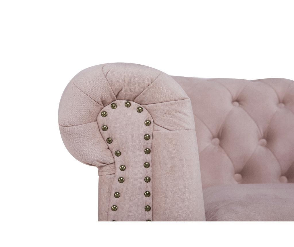 Fotelj Chesterfield Light Pink Jasmine Velvet
