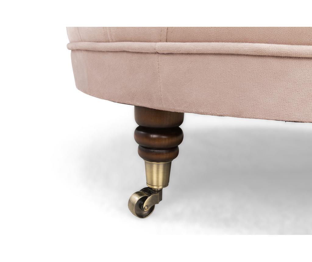 Chesterfield Light Pink Jasmine Velvet Lábzsámoly