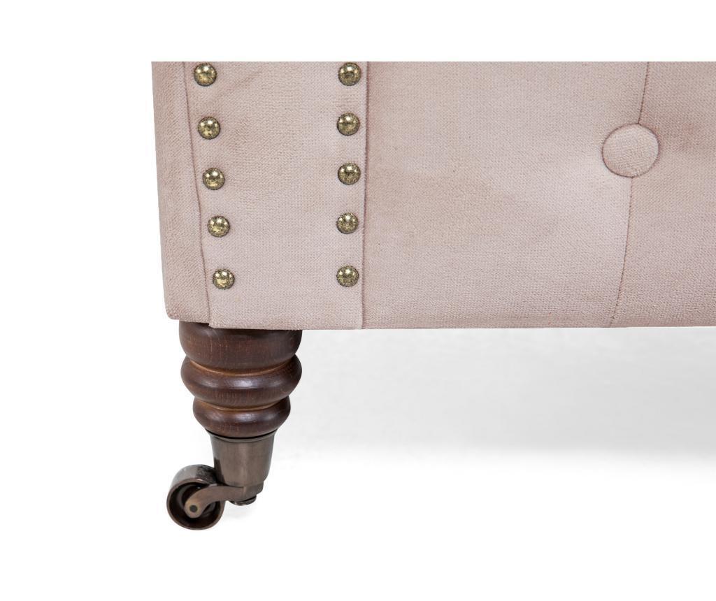 Chesterfield Light Pink Jasmine Velvet Kétszemélyes kanapé
