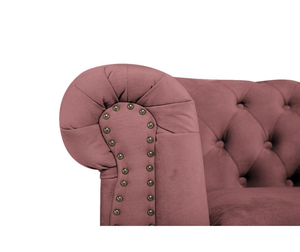 Chesterfield Rust Pink Velvet Fotel