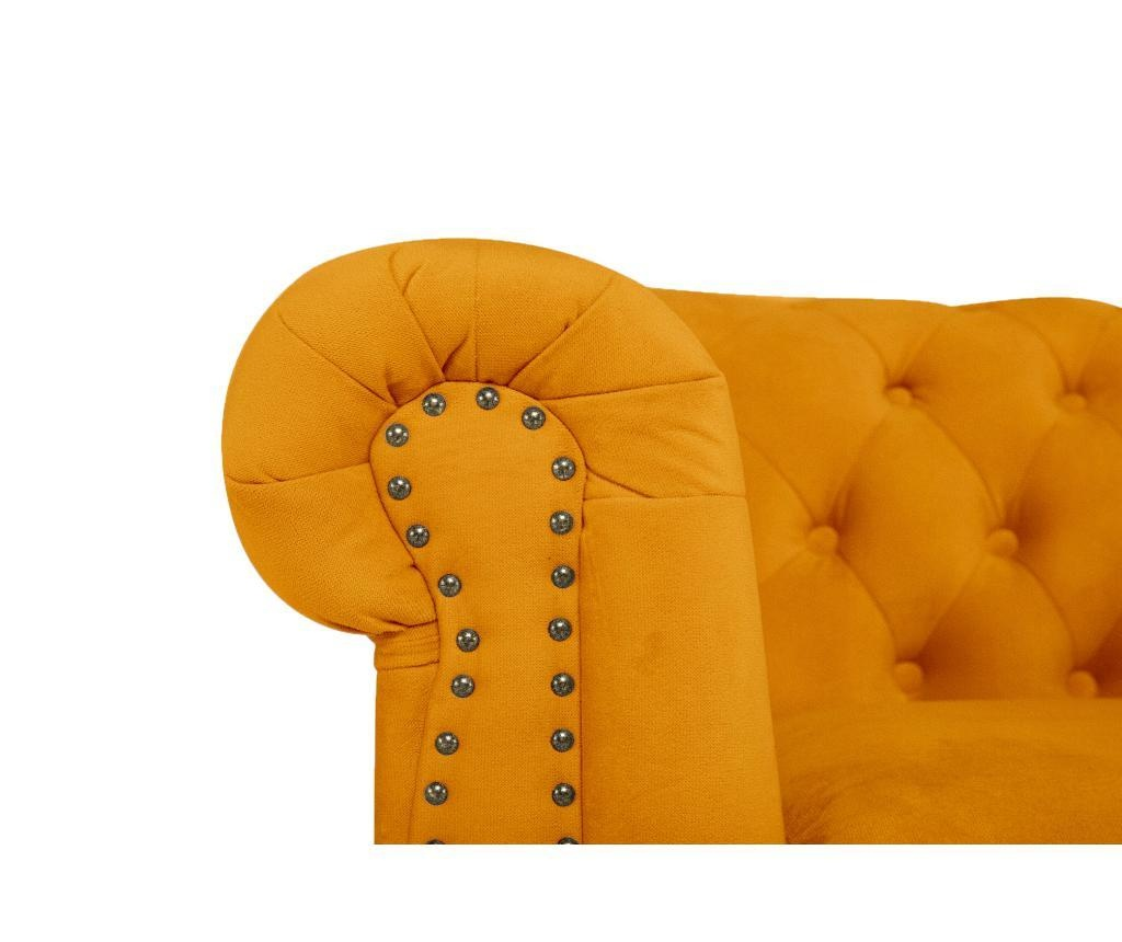 Chesterfield Yellow Velvet Fotel