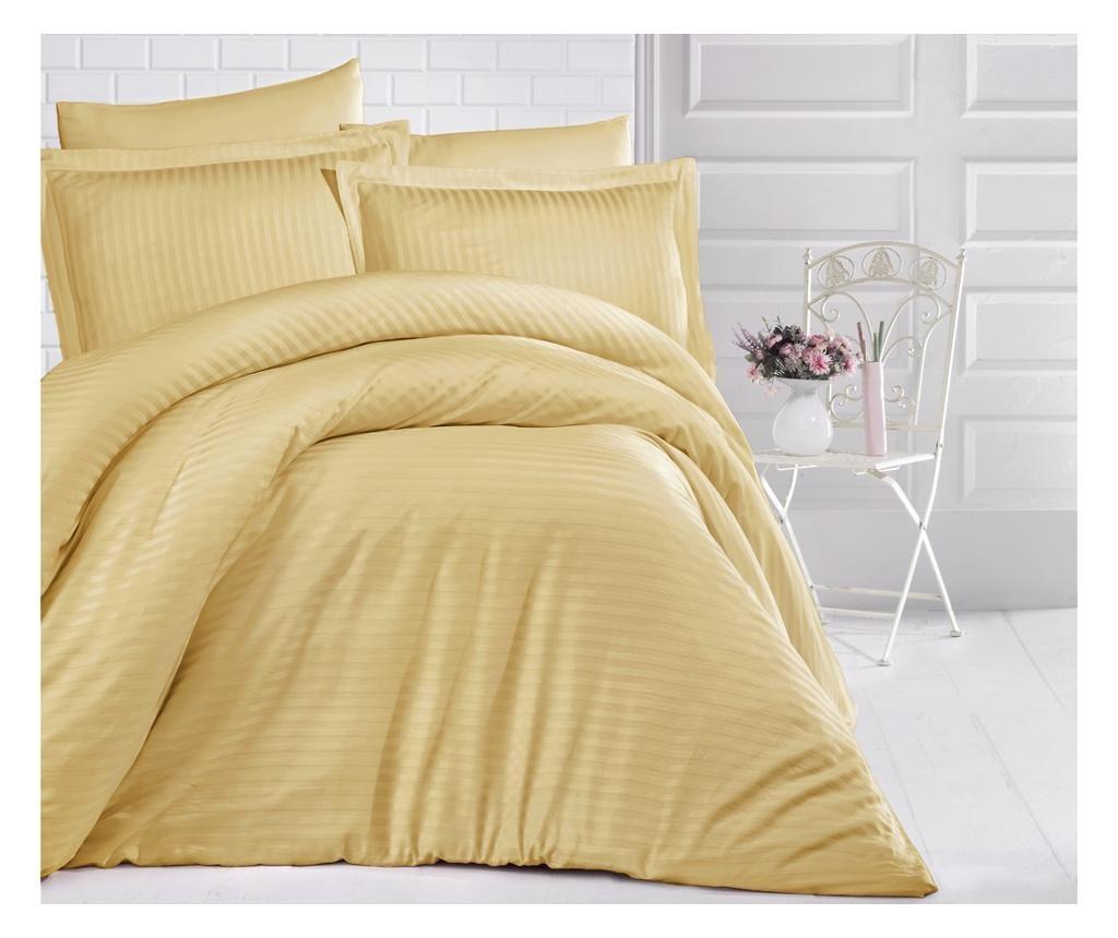 Uni Color Yellow King Szatén Ágynemű