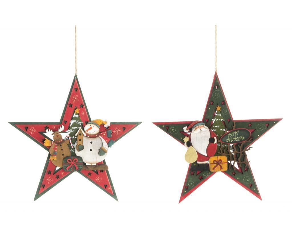 Viseča dekoracija Christmas Star Green