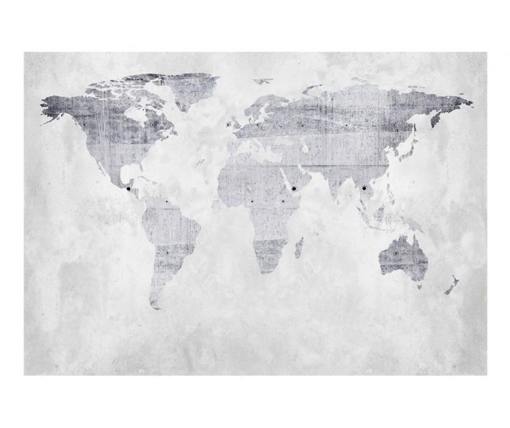 Concrete Map Fotótapéta 245x350 cm
