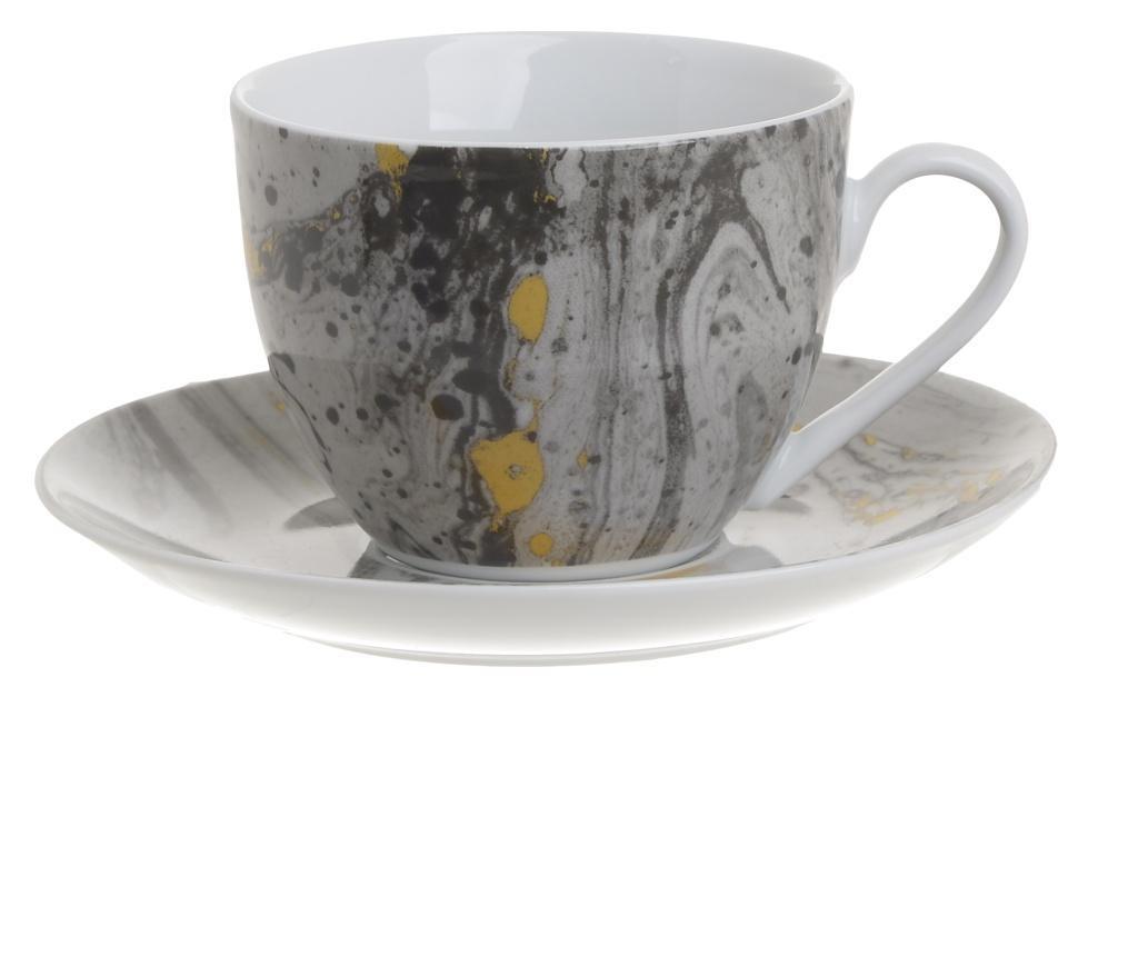Tea Marble 6 db Csésze kistányérral