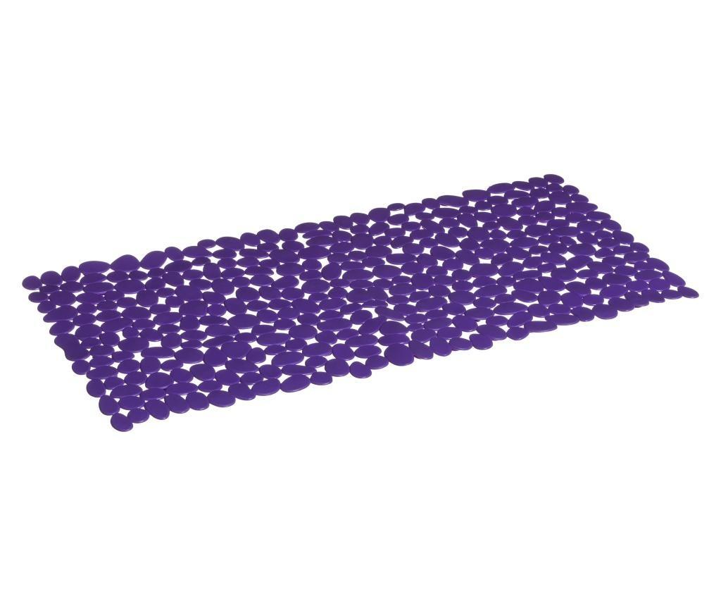 Covoras de baie Pebble Purple 35x70 cm
