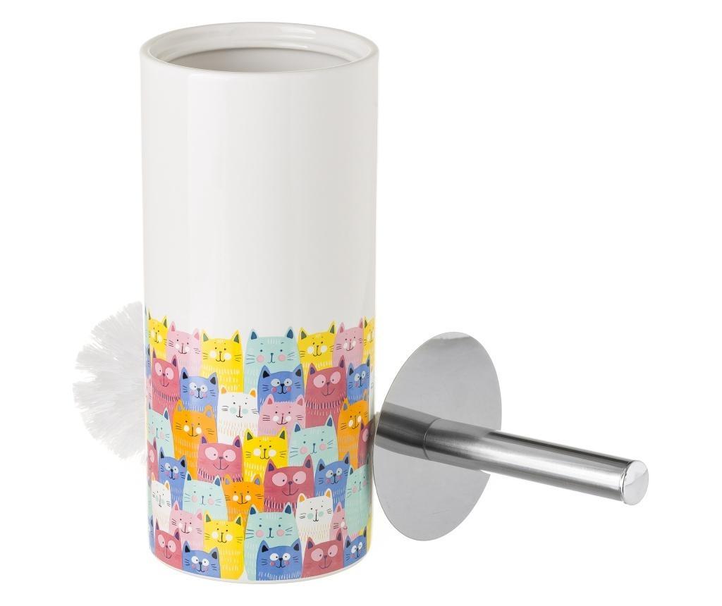 Perie de toaleta cu suport