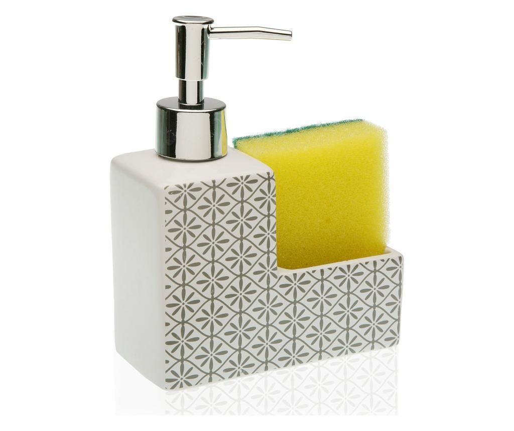Dispenser detergent de vase cu suport pentru burete