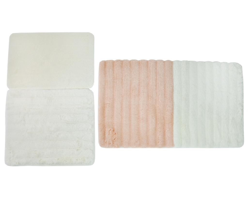 Soft Salmon 3 db Fürdőszobai szőnyeg
