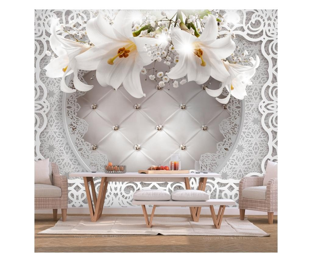 Tapeta Lilies and Quilted Background 175x250 cm