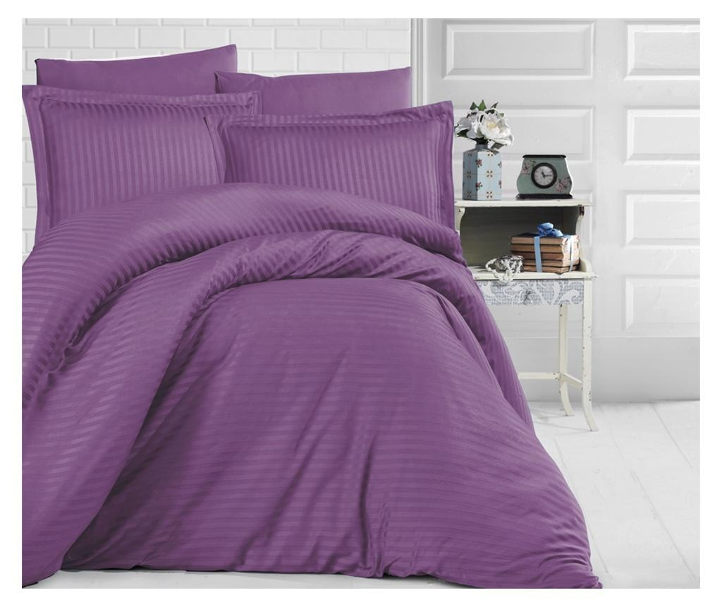 Lenjerie de pat King Satin Supreme Uni Color Purple