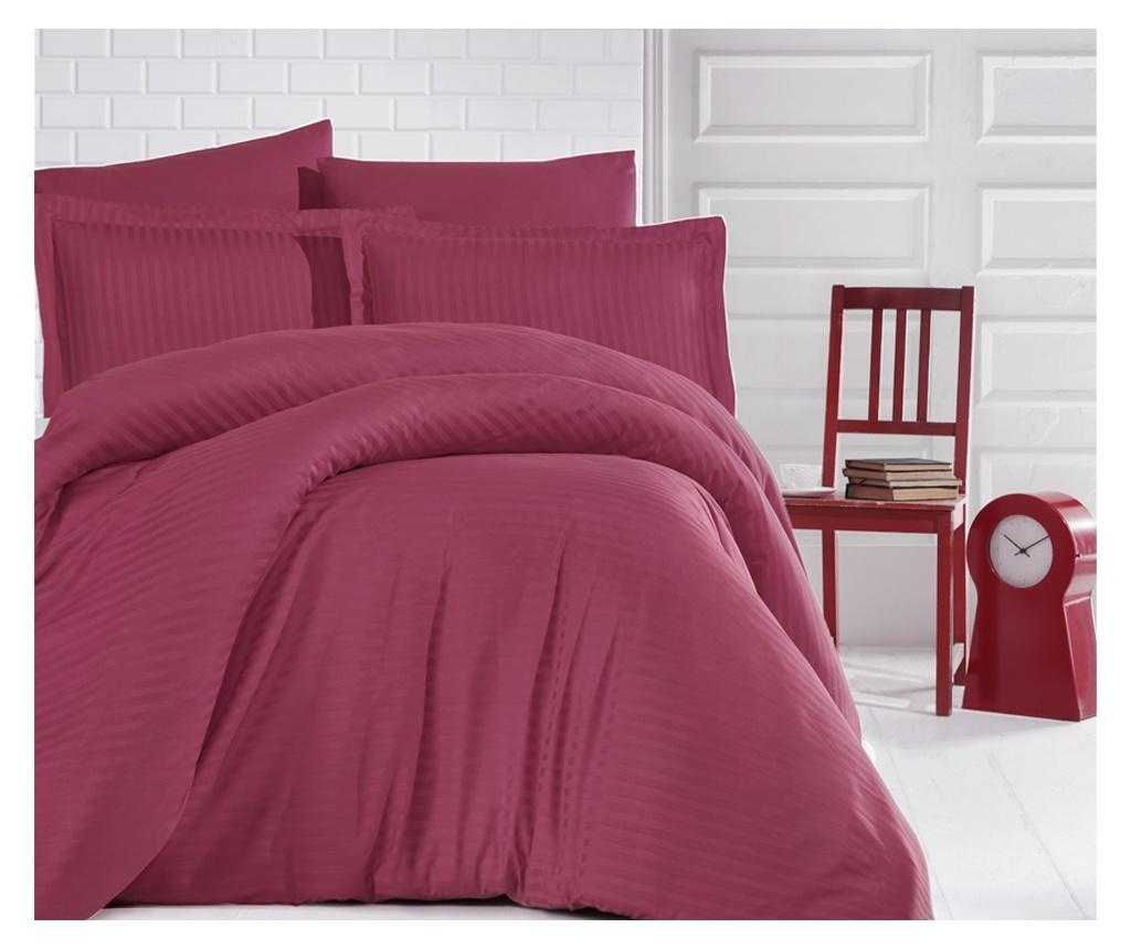 Set posteljina King Satin Supreme Antrasit Bordeux 200x220