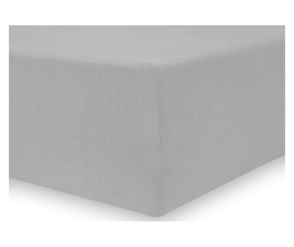 Cearsaf de pat cu elastic Amelia Silver 140x200 cm