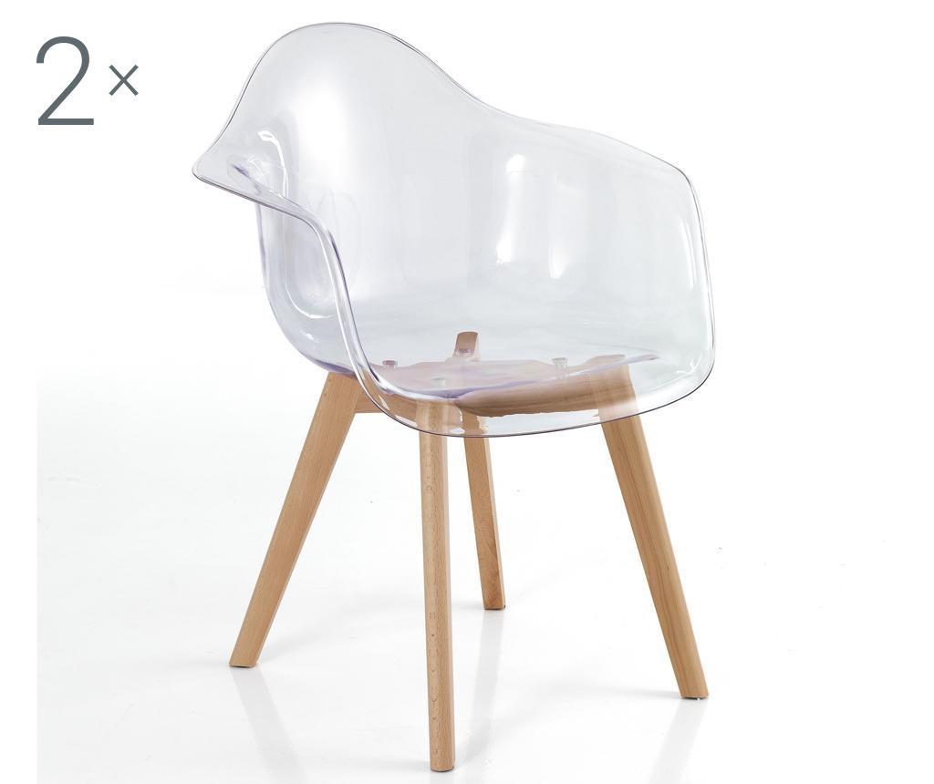 Комплект 2 стола Kiki Egg Clear