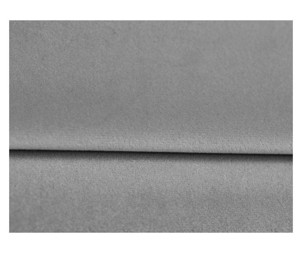 Amaryllis Velvet Grey and Black Chrome Four Megfordítható és kihúzható sarokkanapé