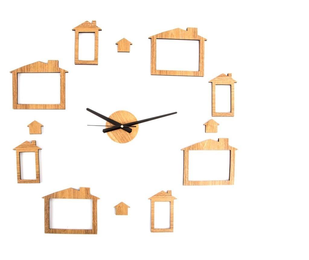 Стенен часовник с 8 снимки Puzzle Home