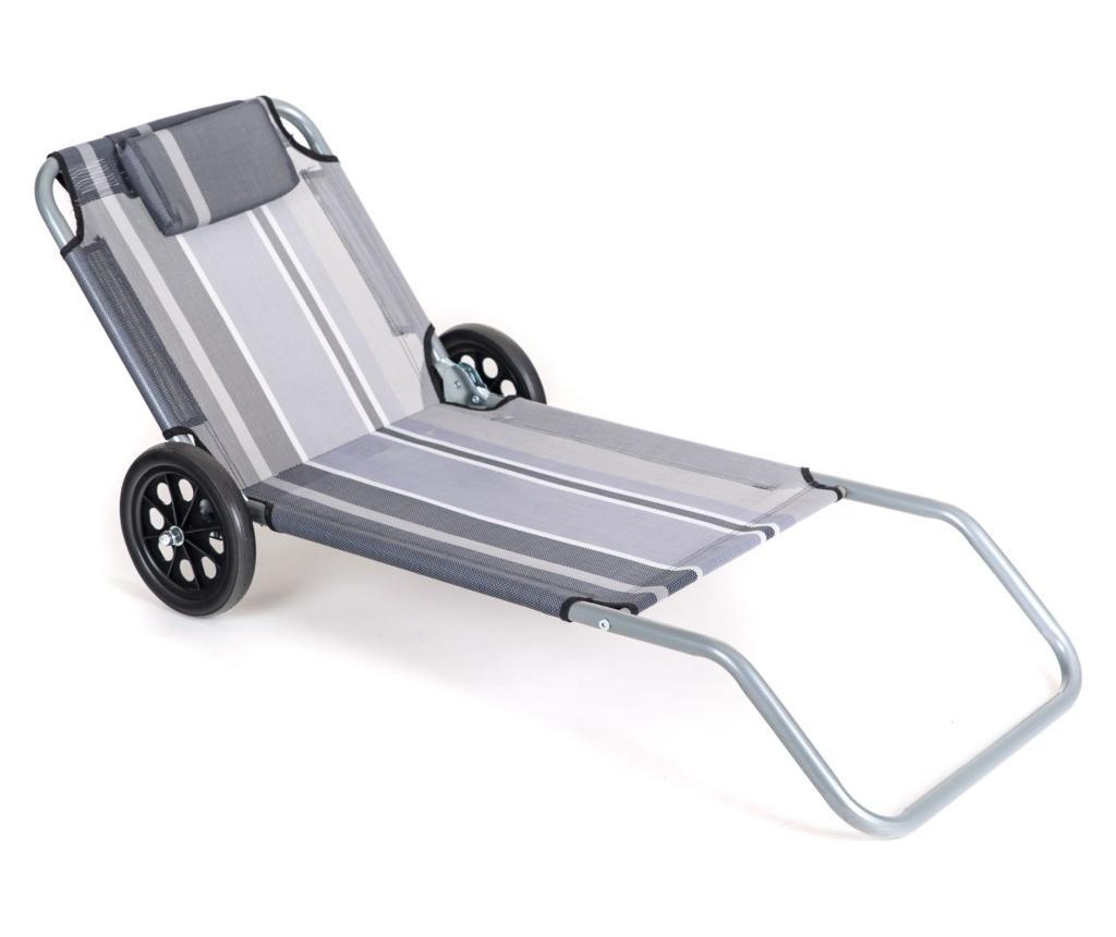 Zwnętrzny leżak na kółkach Flat