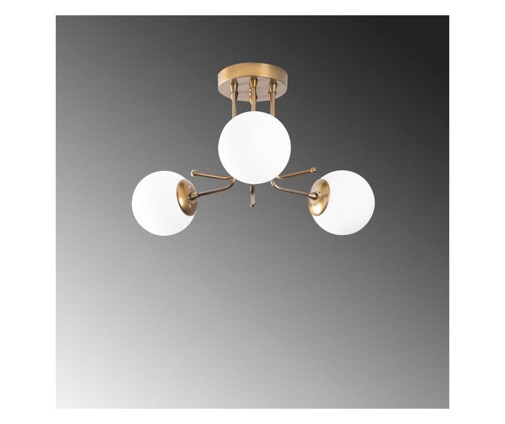 Daisy Three Gold White Round Mennyezeti lámpa