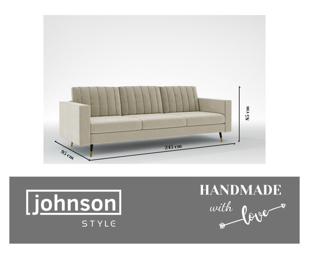 Elina Manhattan Grey Háromszemélyes kanapé