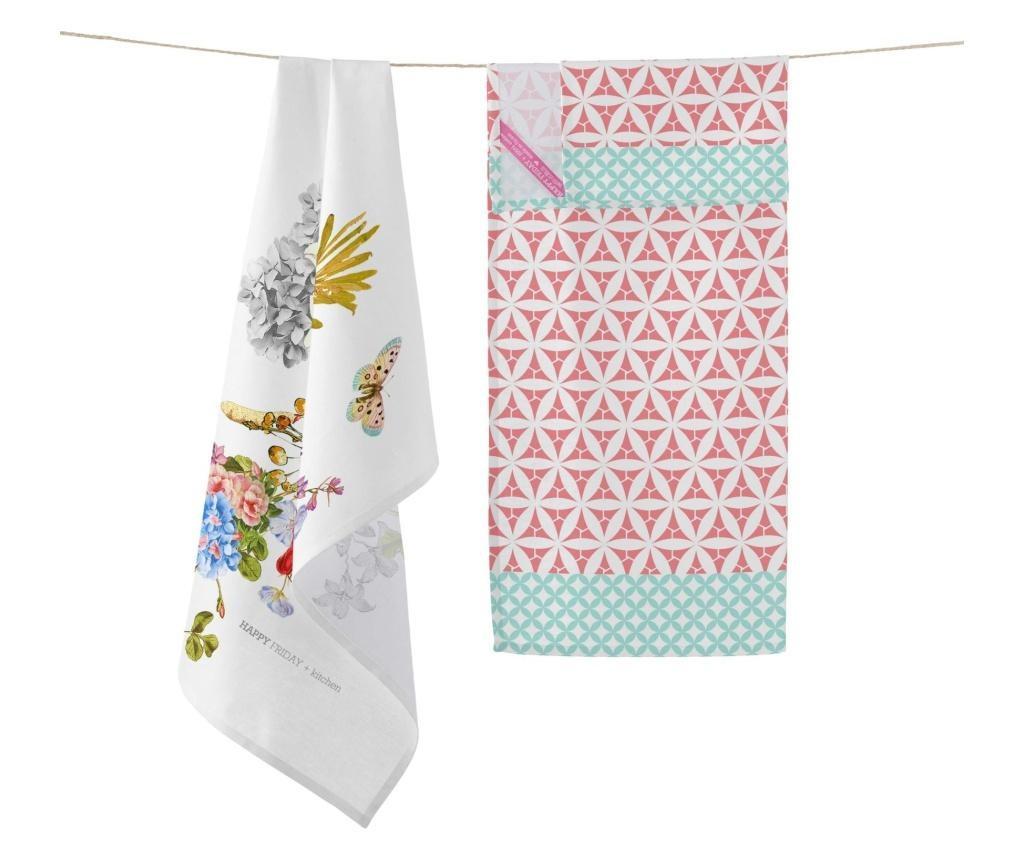Set 2 kuhinjska ručnika Floral Branch 50x70 cm