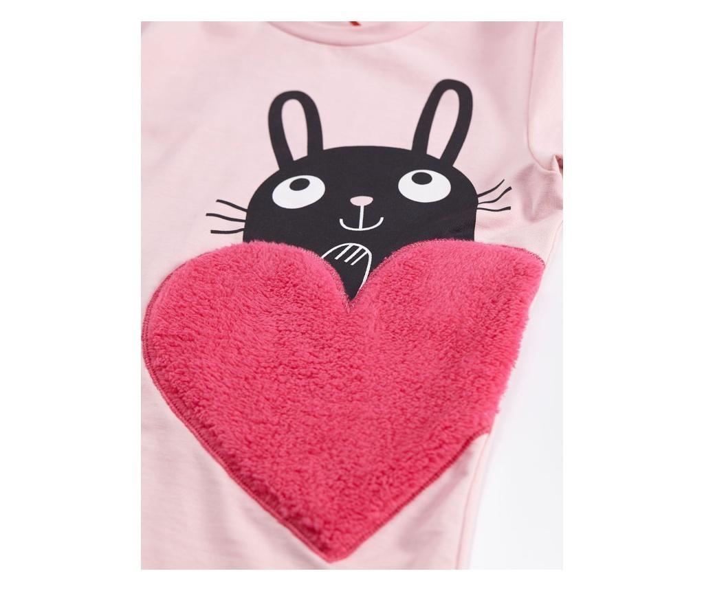 Set bluza si colanti lungi HeartBunny 2 years