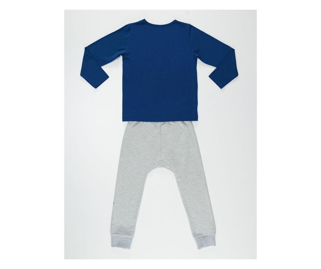 Set bluza si pantaloni Salamander Grey/Navy 4 years